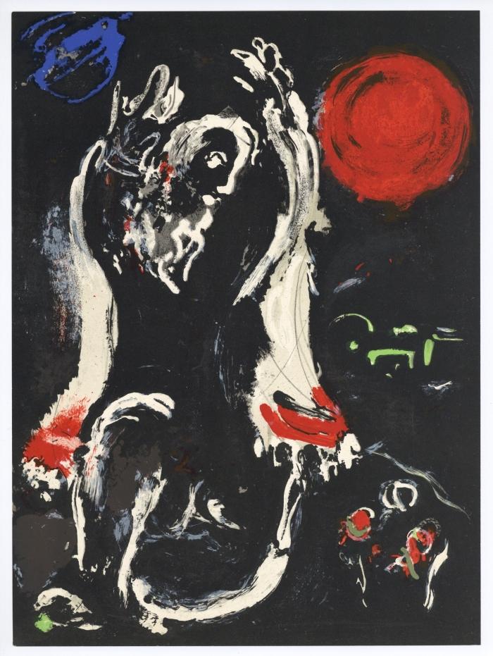 Chagall - Isaiah, 1956. Lithograph, 31.8 × 24.1 cm.jpg