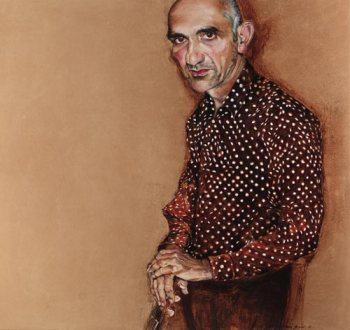 Peter Hudson - 'Words and Music. Portrait of Paul Kelly', 2007. Oil on canvas over board, 170 x 180cm, Art Gallery of NSW