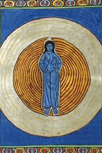 Sophia. The true unity in the true trinity, from Scivias by Hildegard von Bingen according to the Ruppertsberger Codex (around 1180) - 2